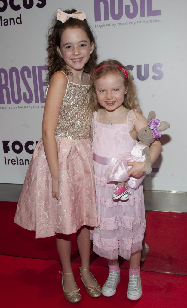 Ruby Dunne (age 9), Molly Mc Cann (age 7) pictured at the European premiere of 'Rosie' at the Light House Cinema, Dublin. Photo: Patrick O'Leary