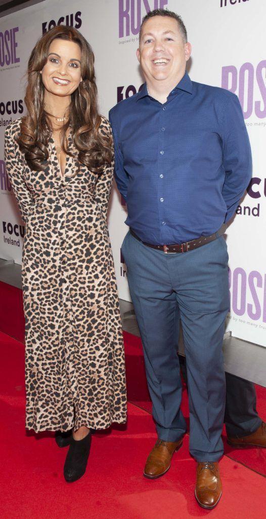 Lyn Dunne and Damien Dunne pictured at the European premiere of 'Rosie' at the Light House Cinema, Dublin. Photo: Patrick O'Leary
