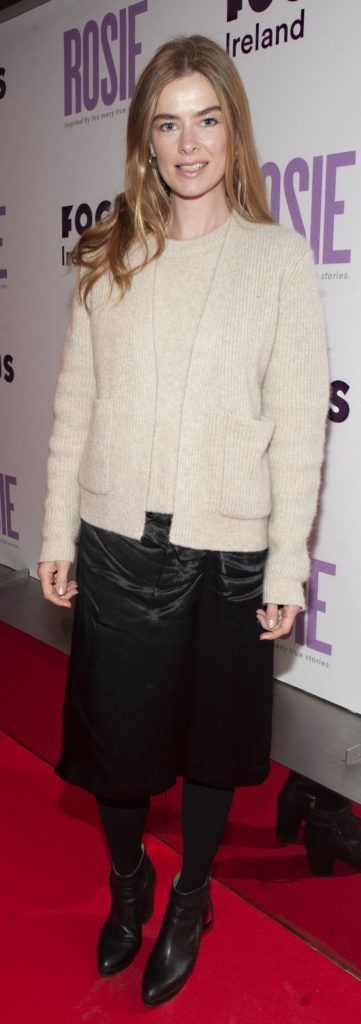 Nikki Bonass pictured at the European premiere of 'Rosie' at the Light House Cinema, Dublin. Photo: Patrick O'Leary
