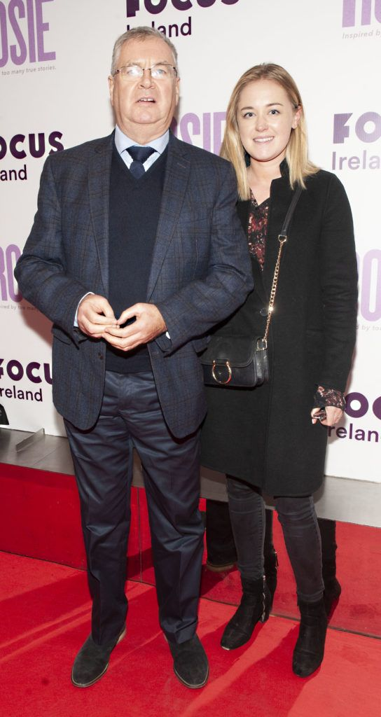 Joe Duffy and Ellen Duffy pictured at the European premiere of 'Rosie' at the Light House Cinema, Dublin. Photo: Patrick O'Leary
