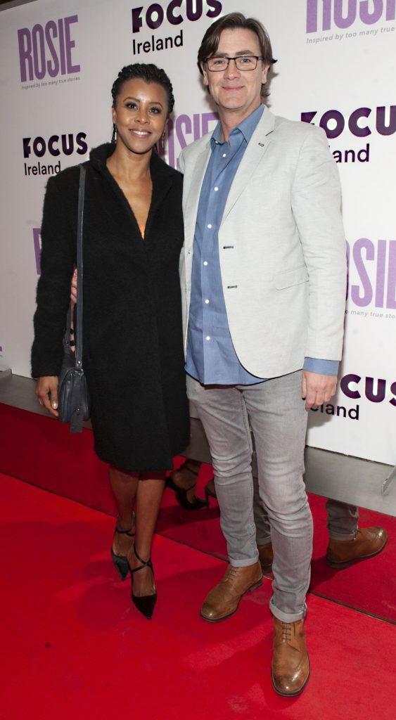 Zeila Oliveira and Martin Linnane pictured at the European premiere of 'Rosie' at the Light House Cinema, Dublin. Photo: Patrick O'Leary