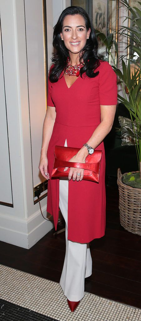 Lisa McGowan at the launch of Bellamianta Luxury Tan's Ultimate Glowgetter Kit at Dublin's Westbury Hotel. Picture: Brian McEvoy