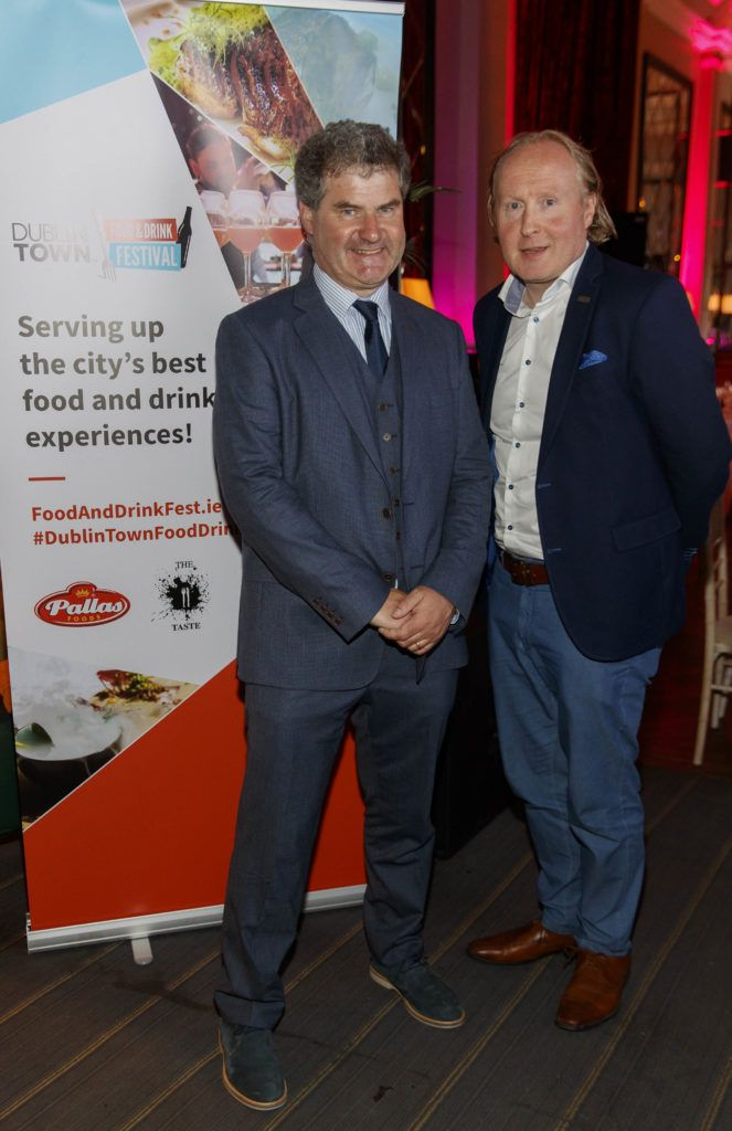 Richard Guiney and Padraig O'Kane pictured at the official launch of DublinTown's inaugural Food & Drink Festival on October 1st 2018. Picture Andres Poveda