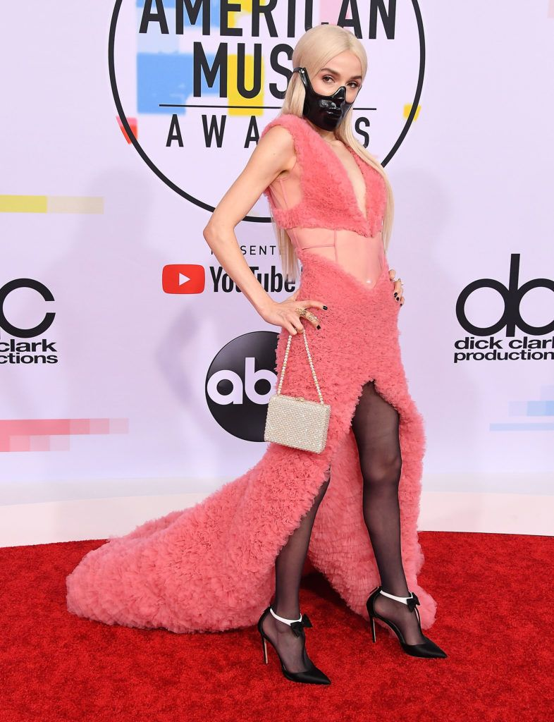 Poppy arrives at the 2018 American Music Awards at Microsoft Theater on October 9, 2018 in Los Angeles, California.  (Photo by Steve Granitz/WireImage)