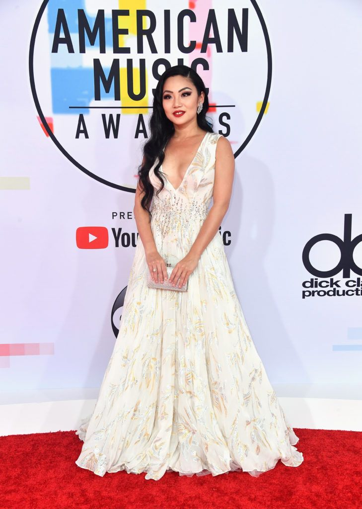 Tina Guo attends the 2018 American Music Awards at Microsoft Theater on October 9, 2018 in Los Angeles, California.  (Photo by Frazer Harrison/Getty Images)