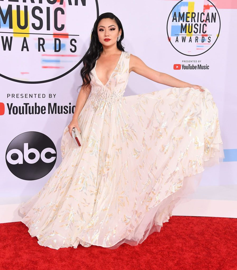 Tina Guo arrives at the 2018 American Music Awards at Microsoft Theater on October 9, 2018 in Los Angeles, California.  (Photo by Steve Granitz/WireImage)
