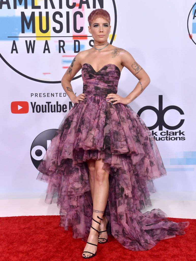 Halsey attends the 2018 American Music Awards at Microsoft Theater on October 9, 2018 in Los Angeles, California.  (Photo by Axelle/Bauer-Griffin/FilmMagic)