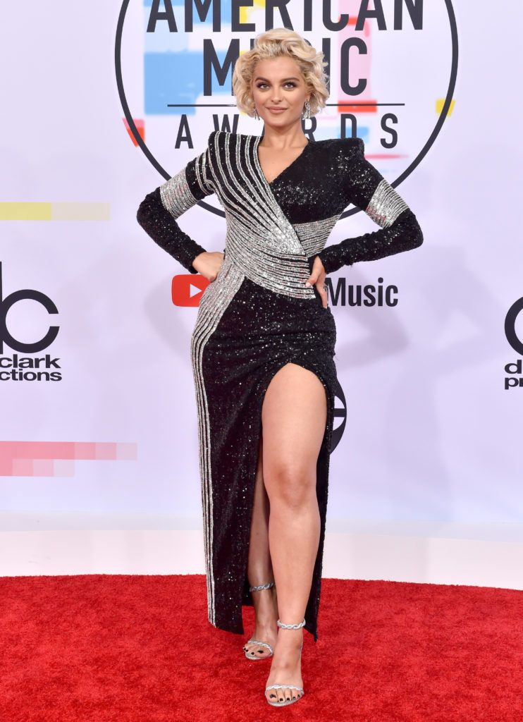 Bebe Rexha attends the 2018 American Music Awards at Microsoft Theater on October 9, 2018 in Los Angeles, California.  (Photo by Axelle/Bauer-Griffin/FilmMagic)