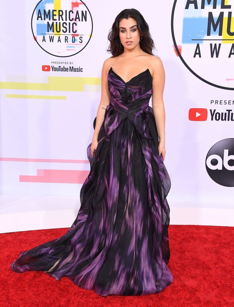 Lauren Jauregui arrives at the 2018 American Music Awards at Microsoft Theater on October 9, 2018 in Los Angeles, California.  (Photo by Steve Granitz/WireImage)