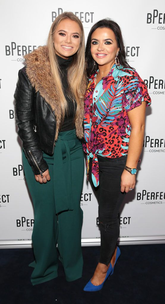 Jessie Winton and Suzanne Winton pictured at launch of the BPerfect Cosmetics Born Ready Lip Kits in partnership with MUA Ellie Kelly at Twenty Two, Dublin. Photo: Brian McEvoy