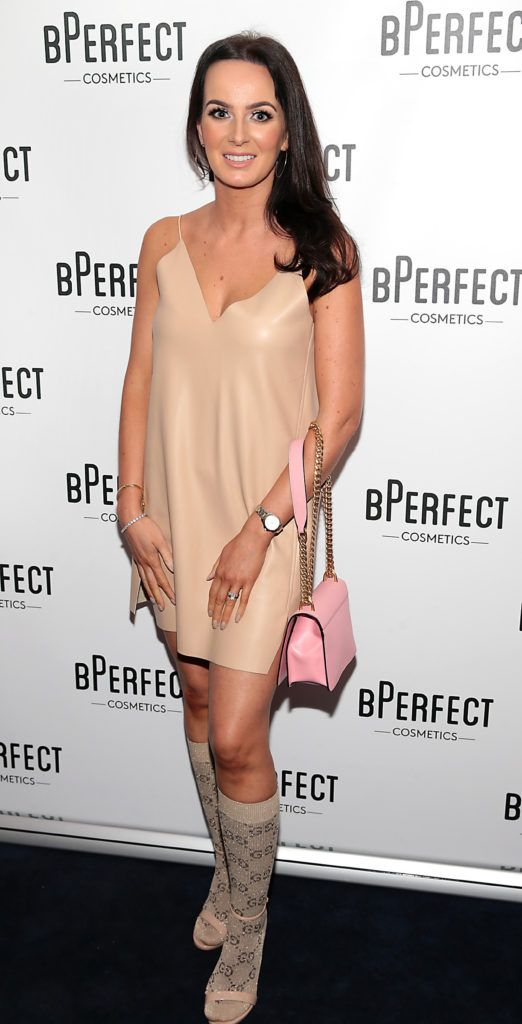 Tracey Wilks pictured at launch of the BPerfect Cosmetics Born Ready Lip Kits in partnership with MUA Ellie Kelly at Twenty Two, Dublin. Photo: Brian McEvoy