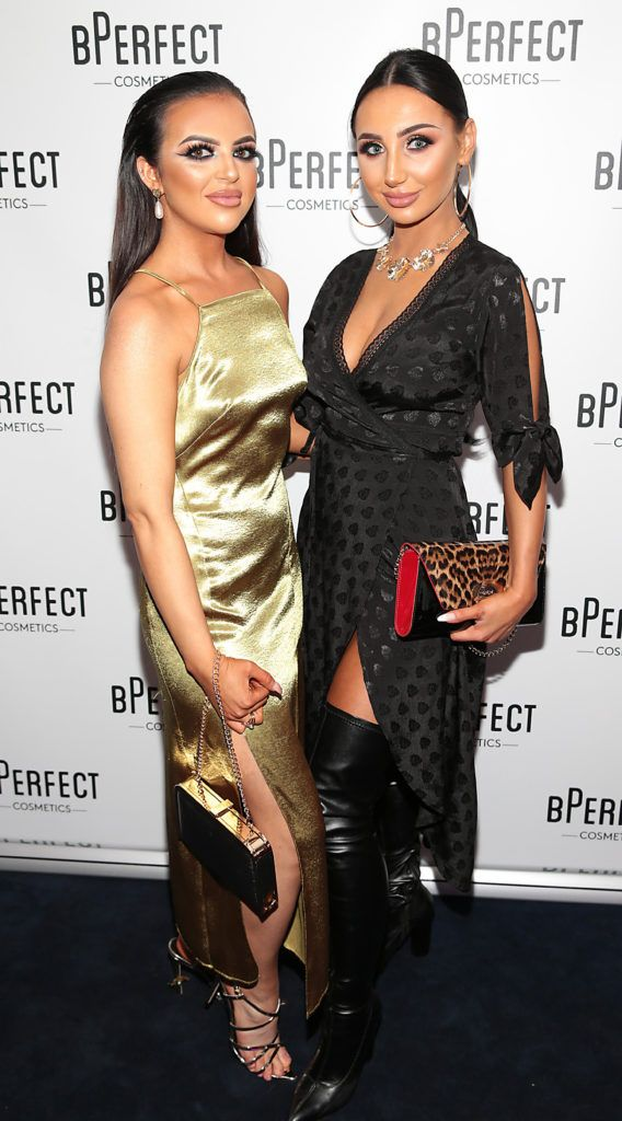 Sinead Rice and Vicky Kelly pictured at launch of the BPerfect Cosmetics Born Ready Lip Kits in partnership with MUA Ellie Kelly at Twenty Two, Dublin. Photo: Brian McEvoy