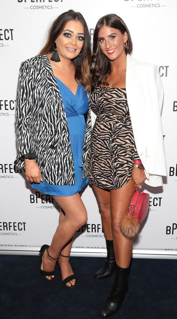 Jenny Dunlop and Nicheala Ryan pictured at launch of the BPerfect Cosmetics Born Ready Lip Kits in partnership with MUA Ellie Kelly at Twenty Two, Dublin. Photo: Brian McEvoy