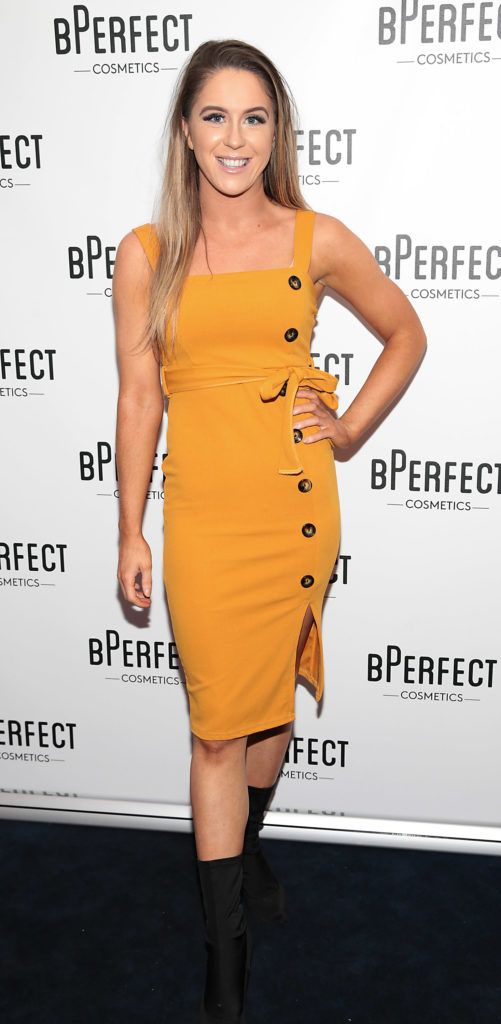 Sarah Curran pictured at launch of the BPerfect Cosmetics Born Ready Lip Kits in partnership with MUA Ellie Kelly at Twenty Two, Dublin. Photo: Brian McEvoy