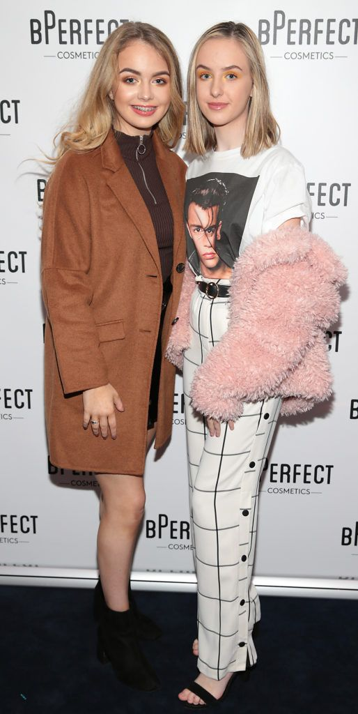 Mlly O Connor and Amber Coll pictured at launch of the BPerfect Cosmetics Born Ready Lip Kits in partnership with MUA Ellie Kelly at Twenty Two, Dublin. Photo: Brian McEvoy