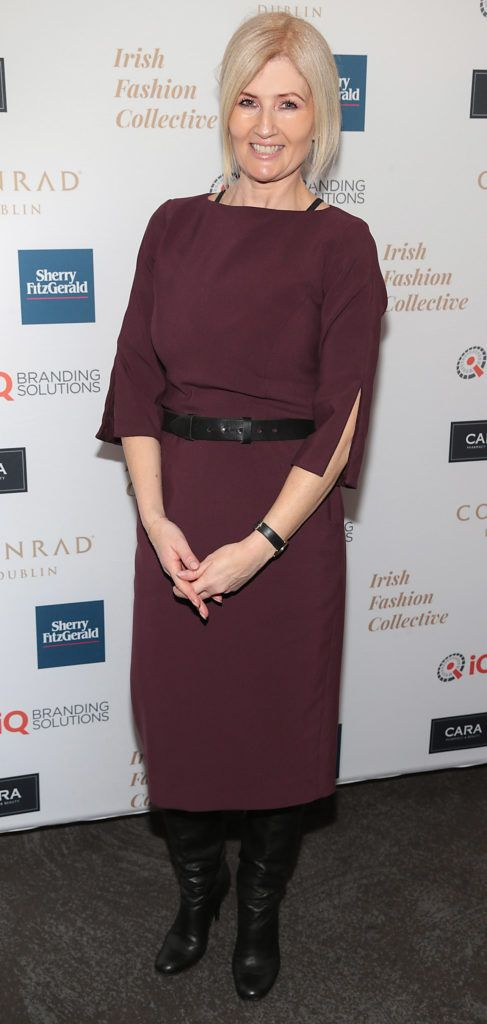 Siobhan Carnegie at the 2018 Irish Fashion Collective show in aid of Saint Joseph's Shankill, at the Conrad Dublin. Photo: Brian McEvoy