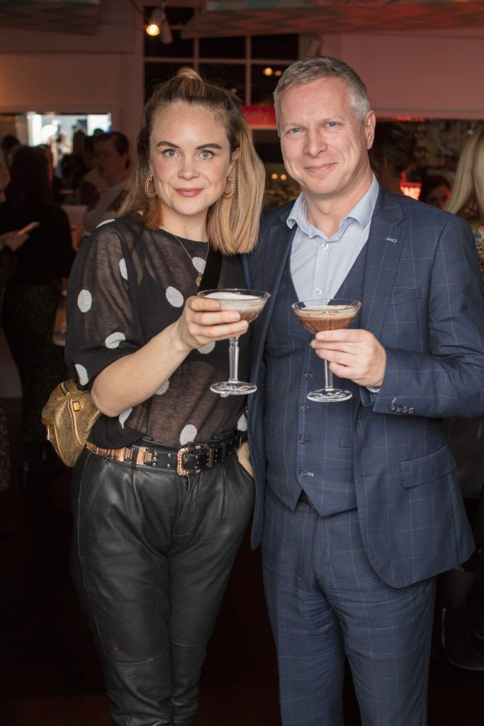 Joanne McNally & Eoin Donnelly pictured at the launch of Lily O'Brien's 'Share Wisely' bags. Photo: Anthony Woods