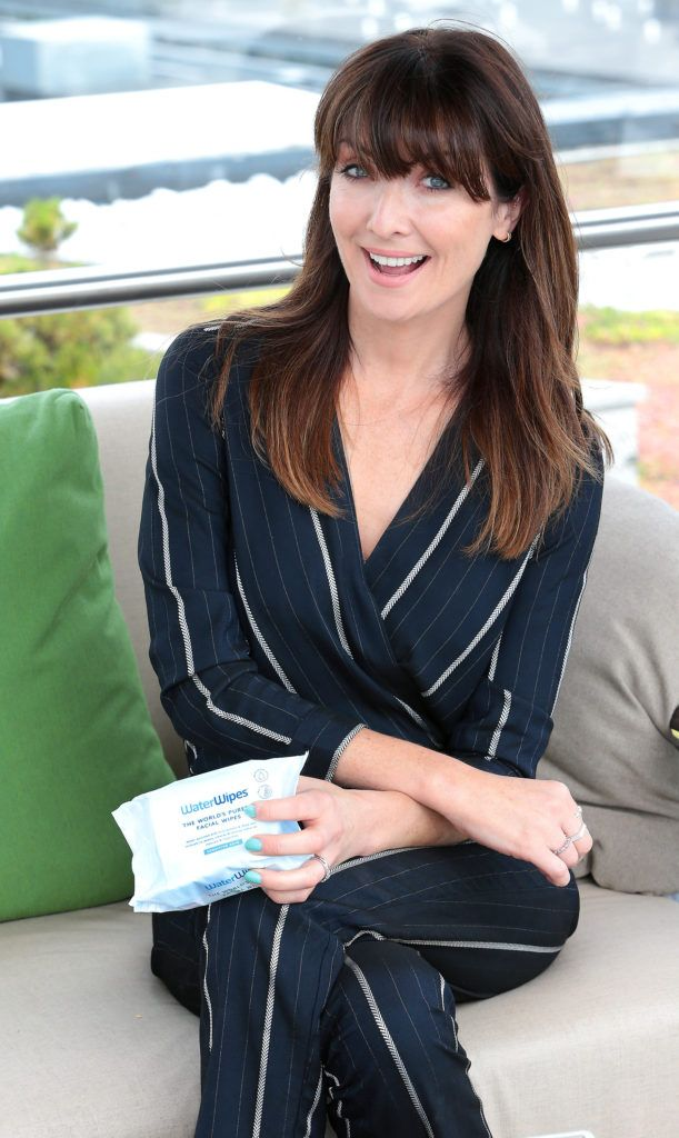 Jennifer Zamparelli pictured at the launch of WaterWipes Facial Wipes at the Marker Hotel, Dublin. Picture: Brian McEvoy