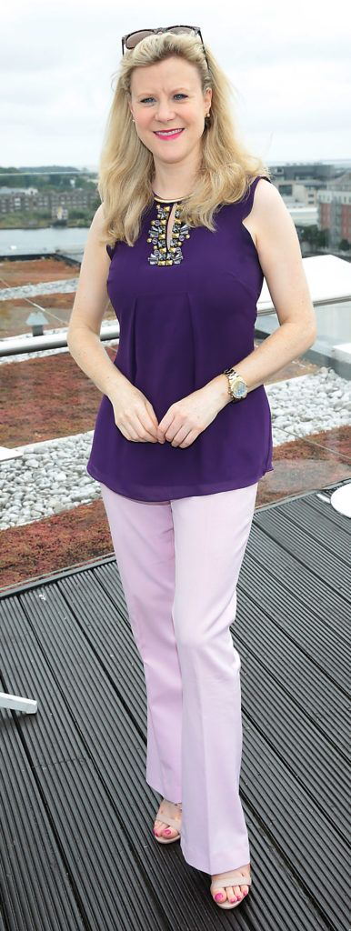 Nuala Carey pictured at the launch of WaterWipes Facial Wipes at the Marker Hotel, Dublin. Picture: Brian McEvoy