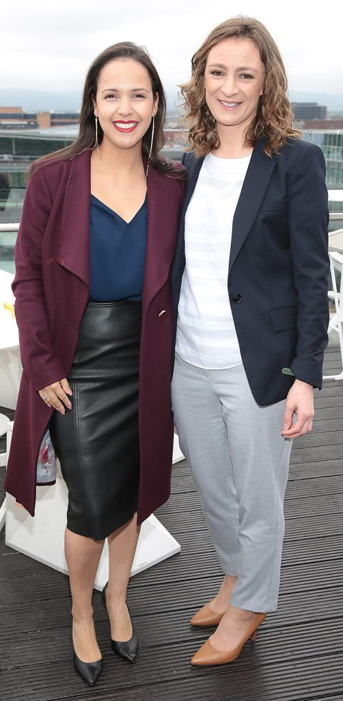 Kamilla Sheehan and Emer Gilligan pictured at the launch of WaterWipes Facial Wipes at the Marker Hotel, Dublin. Picture: Brian McEvoy