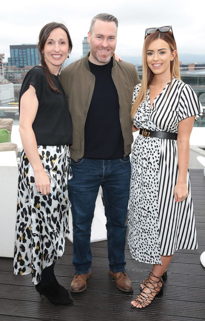 Eimear Gorman, David Lawlor and Rachel Doggett pictured at the launch of WaterWipes Facial Wipes at the Marker Hotel, Dublin. Picture: Brian McEvoy