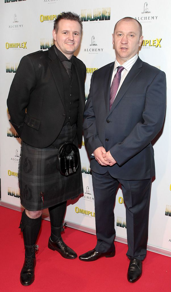 Scott Kyle and Stuart Pearson at the Irish premiere screening of Kajaki at Omniplex in Rathmines Dublin.Picture:Brian McEvoy.