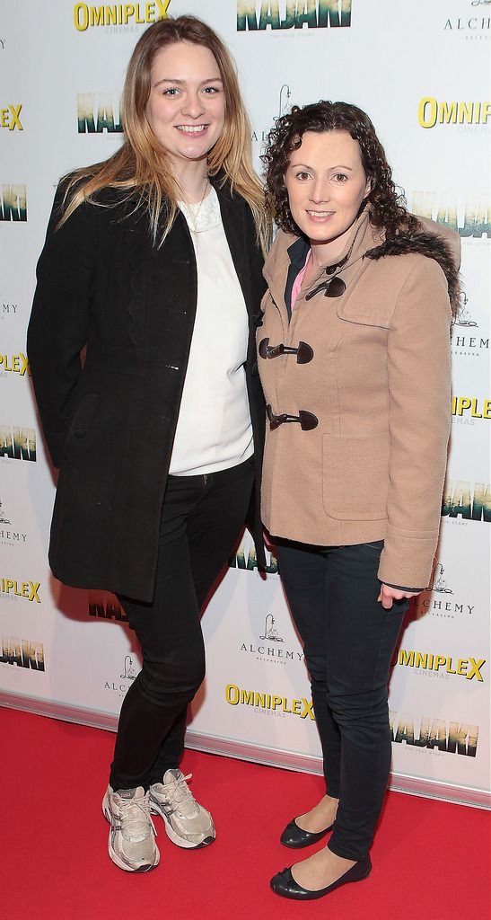 Aoife Gillivan  and Claire Kelly  at the Irish premiere screening of Kajaki at Omniplex in Rathmines Dublin.Picture:Brian McEvoy