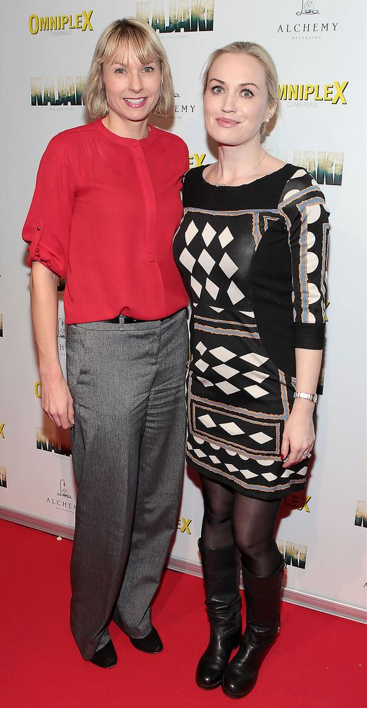 Sarah Kelly and Emma Cashman   at the Irish premiere screening of Kajaki at Omniplex in Rathmines Dublin.Picture:Brian McEvoy.