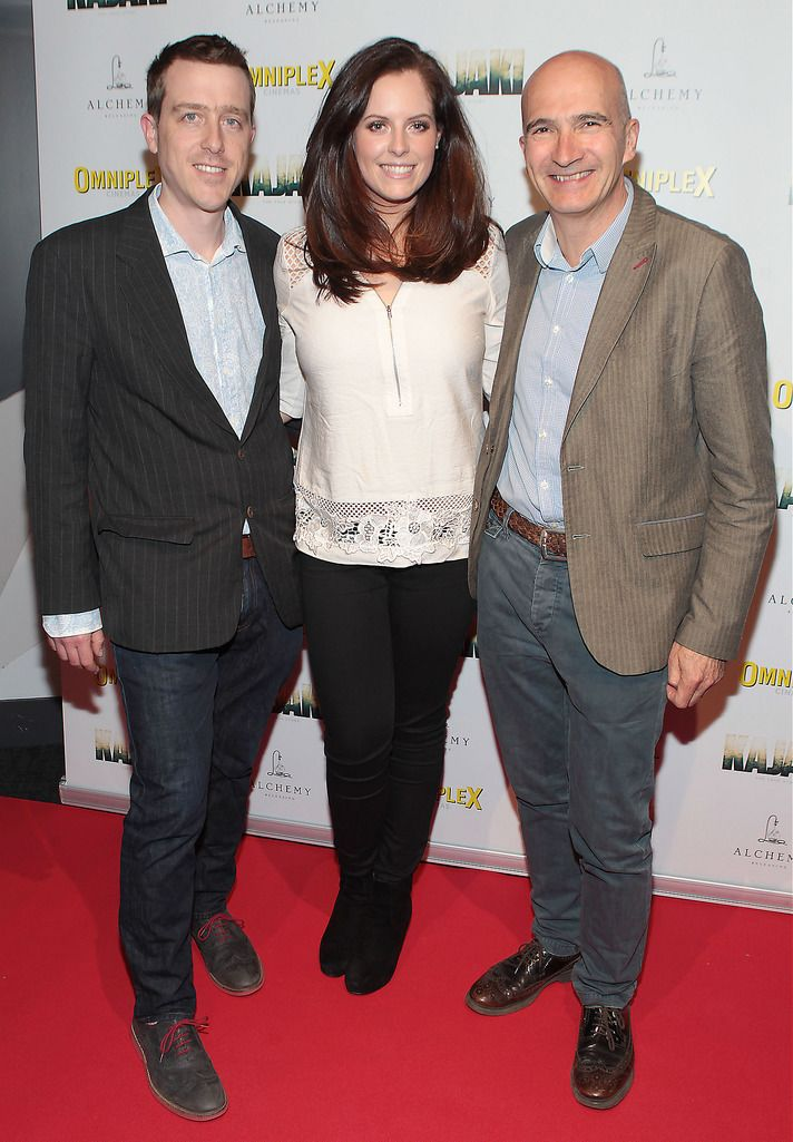 Andrew Lotbiniere ,Emma Farrell  and Paul Katis  at the Irish premiere screening of Kajaki at Omniplex in Rathmines Dublin.Picture:Brian McEvoy.