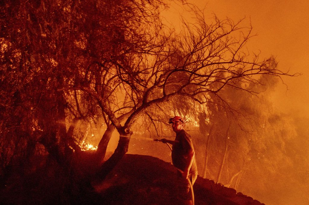 Powerful winds fuel wildfires in California