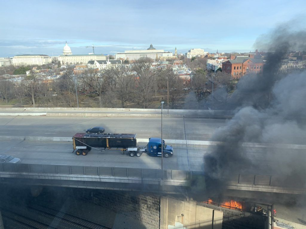 Capitol locked down during inauguration rehearsal after homeless camp fire