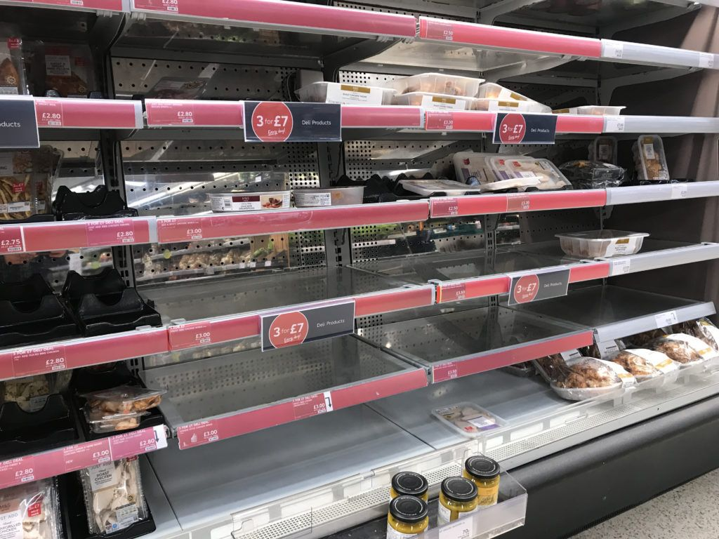 Empty supermarket shelves in North 'nothing to do with Brexit'
