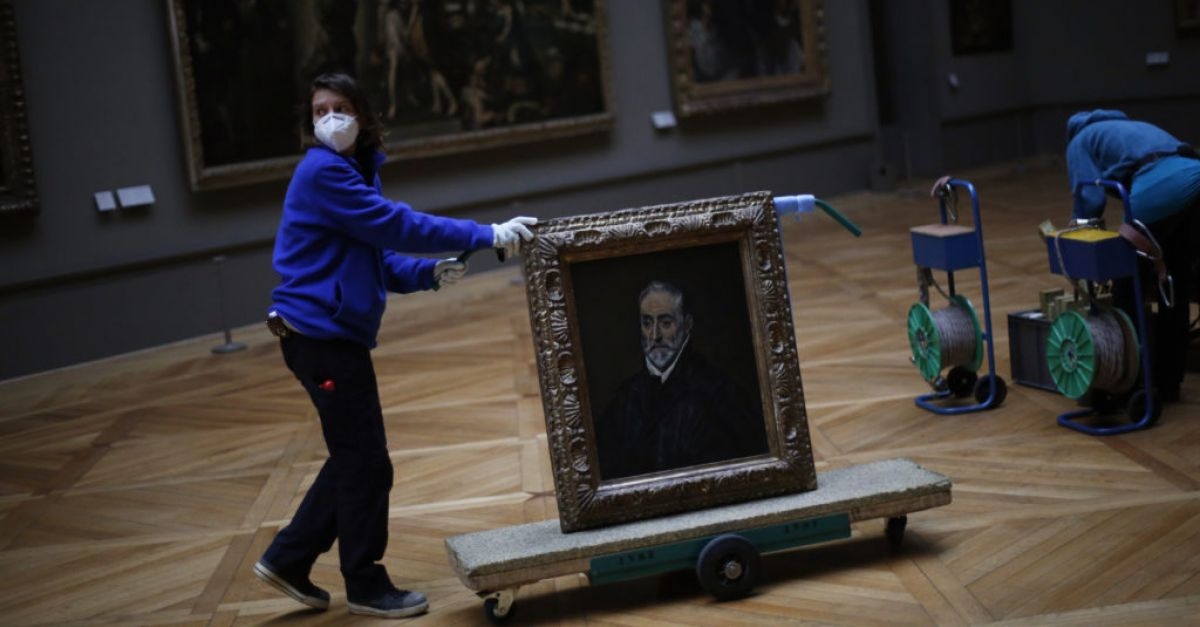 Lockdown aids Louvre as 'this Sleeping Beauty' gets 'time to powder her nose'