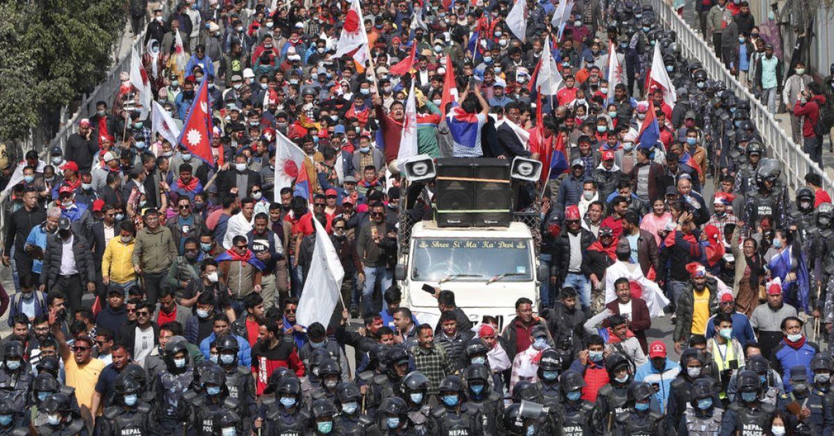 Thousands celebrate reinstatement of Nepal's parliament