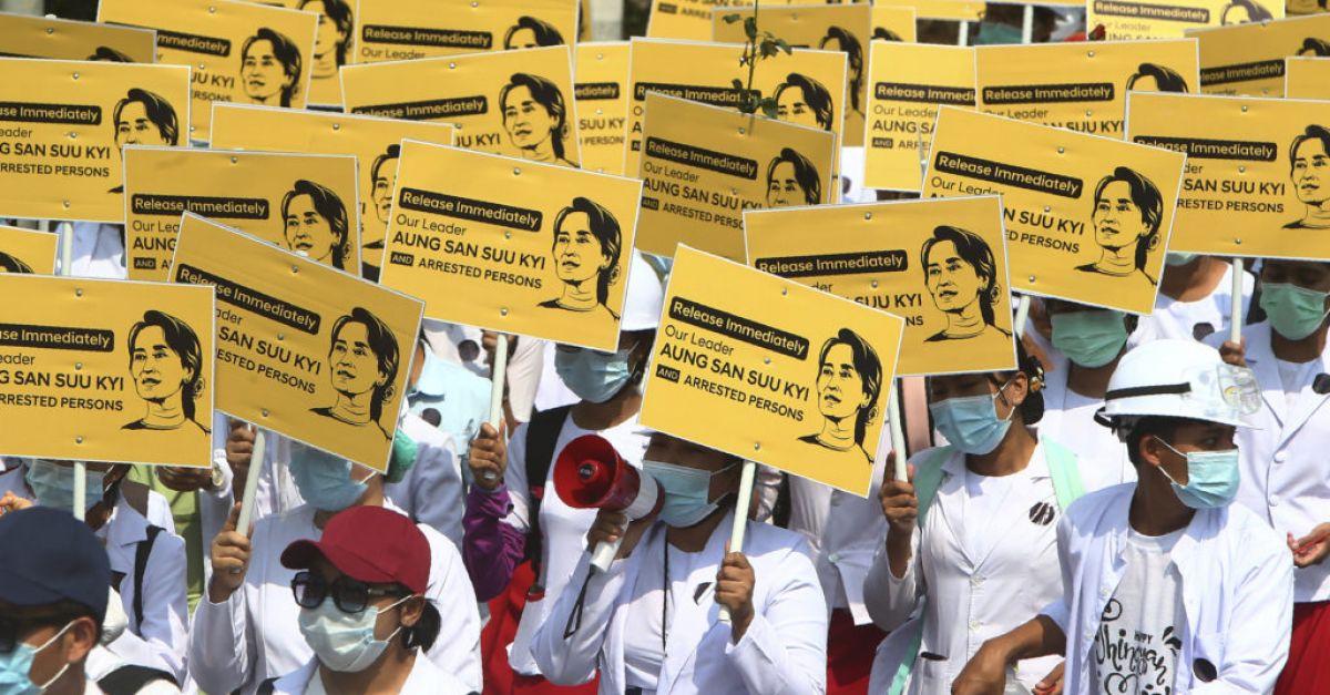 Myanmar's UN envoy applauded for speech opposing military coup