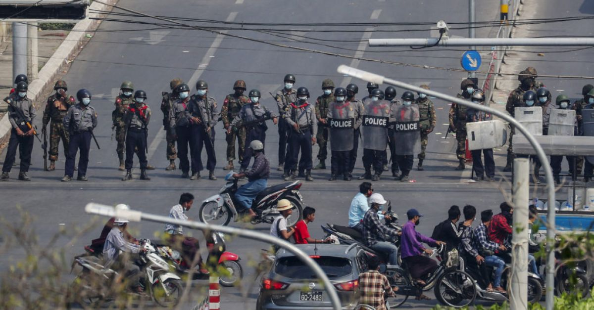 Myanmar police escalate crackdown on coup protesters