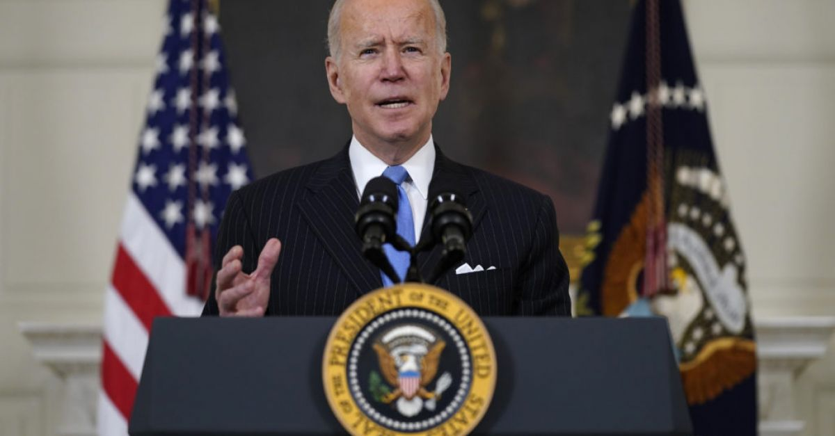 Biden in vow over enough vaccines for all US adults by end of May