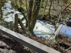 River Turns White With Milk After Tanker Accident In Wales