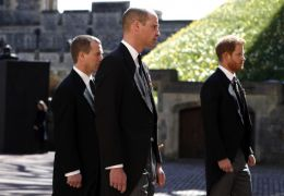 William And Harry Seen Chatting After Grandfather's Funeral