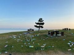 Piles Of Litter At Beauty Spots After Sunny Weekend