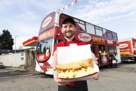 Double Decker Bus Transformed Into €200,000 Drive-In Diner