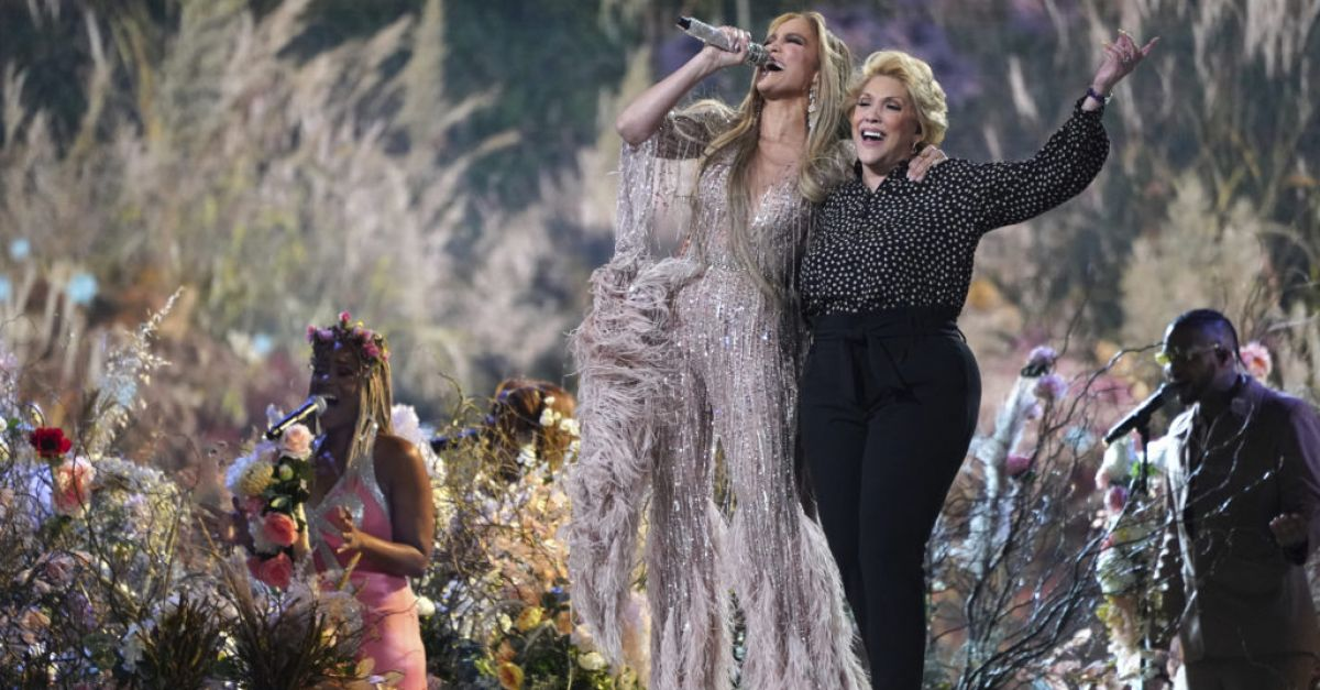 Jennifer Lopez shares stage with mother at star-studded Vax Live concert