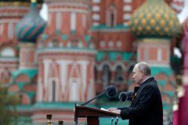Putin Tells Red Square Parade That Nazi Ideas Persist