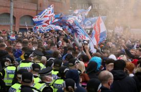 Police Urge Rangers Fans To Leave After Thousands Arrive At Ibrox Stadium