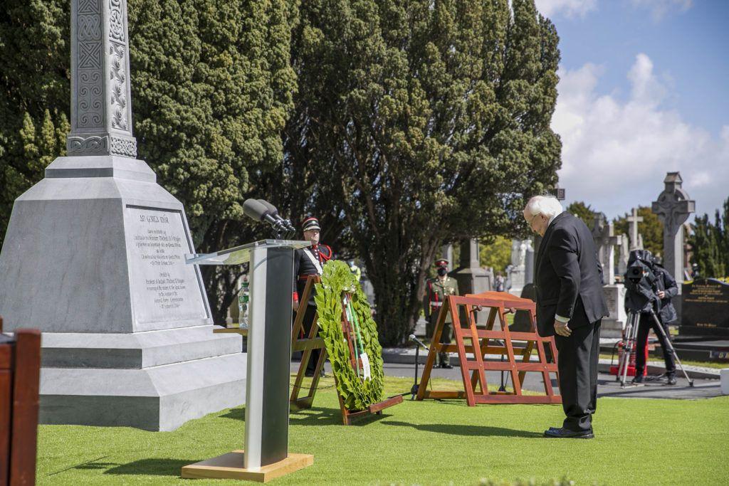 President Higgins leads national commemoration of Irish famine victims