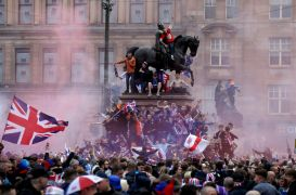 Scottish Police Investigate Rangers Players 'Using Sectarian Language' In Celebrations