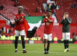 Manchester United Players Show Support For Palestine At Old Trafford