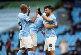 Aguero Bows Out In Style As Champions Man City Rout Everton