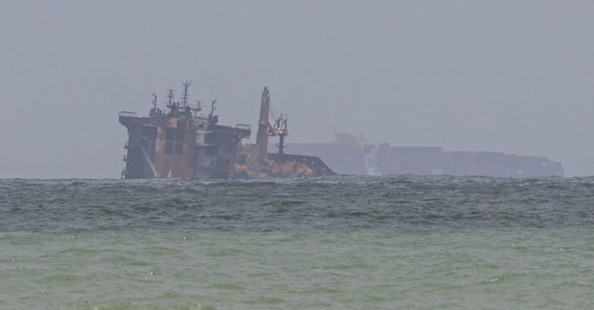 Sri Lanka testing for oil in waters near stricken cargo ship