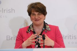 Video: Arlene Foster Bursts Into Song During Press Conference